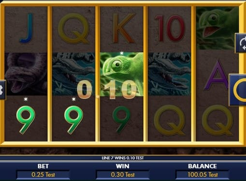 Выигрышная комбинация символов в аппарате Reptile Riches