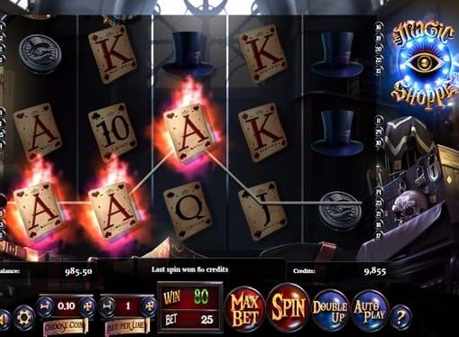 Выигрышная последовательность в аппарате The Magic Shoppe