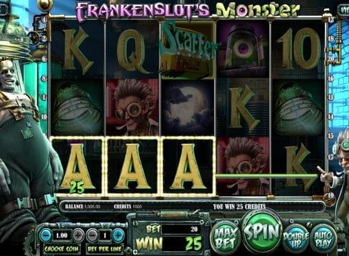 Выигрышная комбинация в автомате Frankenslot's Monster