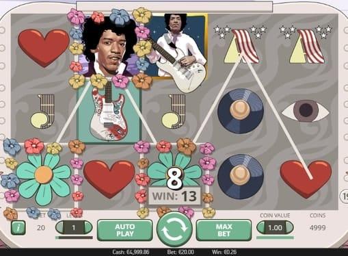 Призовая последовательность в автомате Jimi Hendrix