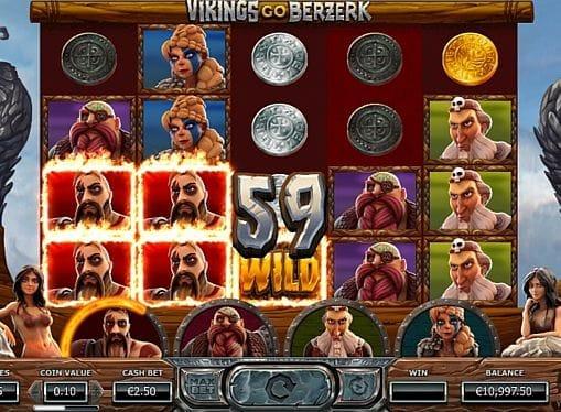 Выигрышная комбинация символов в автомате Vikings go Berzerk