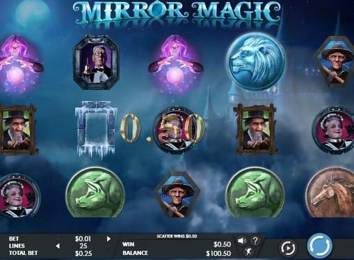 Выигрыш за комбинацию ни линии в игре Mirror Magic