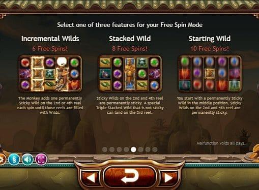 Выплаты за символы в Monkey King онлайн