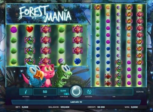 Выигрышная комбинация в автомате Forest Mania
