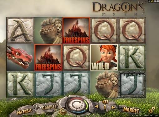 Фриспины и дикий символ в игре Dragon's Myth
