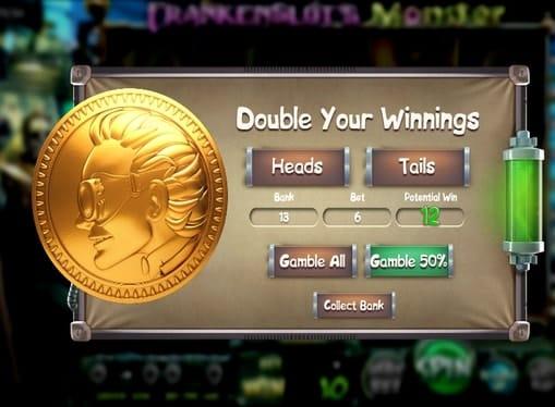 Риск-режим в игровом аппарате Frankenslot's Monster