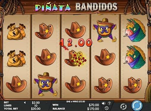 Призовая комбинация на линии в игровом автомате Pinata Bandidos