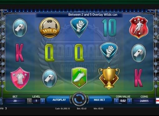 Комбинация символов в игре Champions Cup