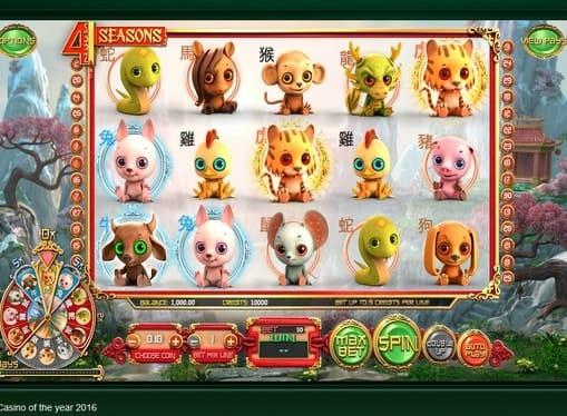Символы игрового онлайн автомата Four Seasons