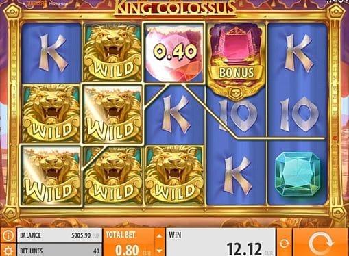 Призовая комбинация символов в игровом автомате King Colossus