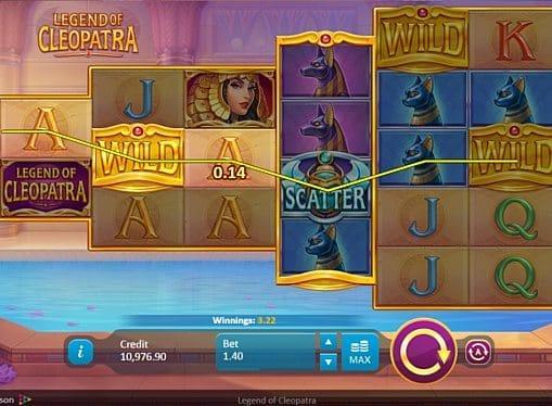 Призовая комбинация с диким знаком в игровом атвомате Legend of Cleopatra