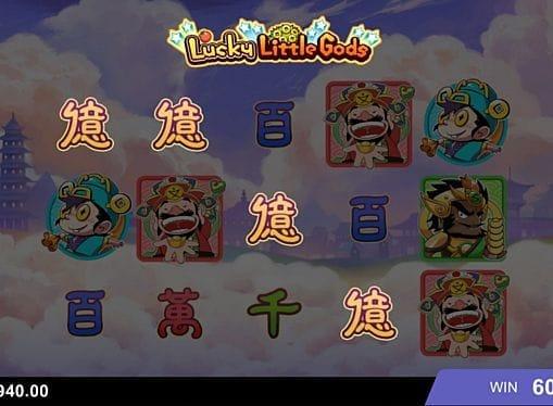 Призовая комбинация на линии в игровом автомате Lucky Little Gods