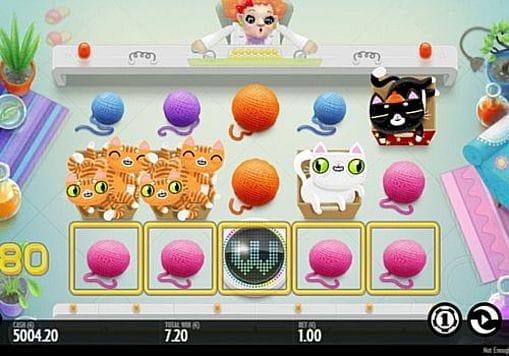 Призовая комбинация с диким знаком в игровом автомате Not Enough Kittens