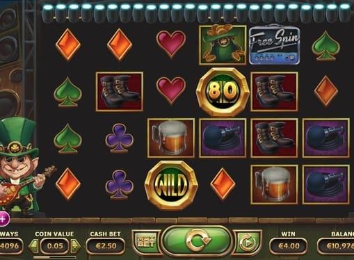 Призовая комбинация в игровом автомате Rainbow Ryan