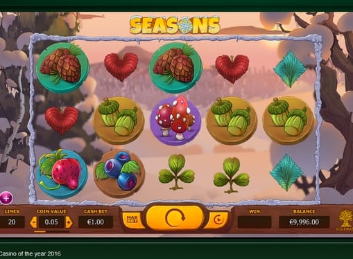 Символы игрового онлайн аппарата Seasons