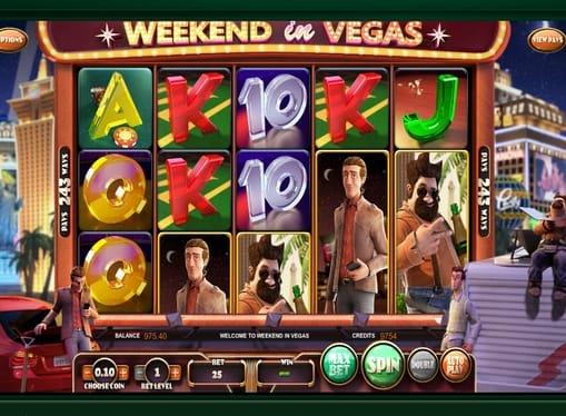Выигрышная комбинация в онлайн автомате Weekend in Vegas