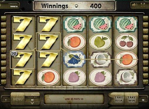 Призовая комбинация на линии в игровом автомате Wild Fruits