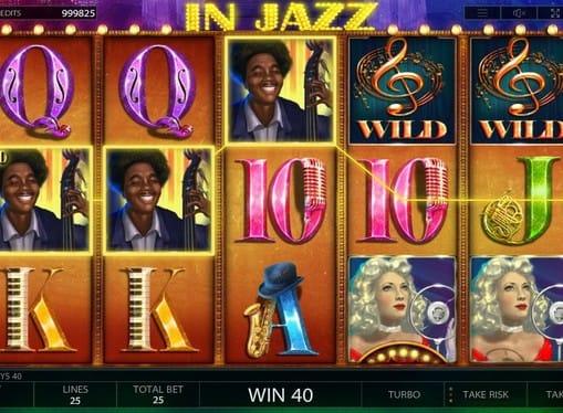 Комбинация символов в игровом автомате In Jazz