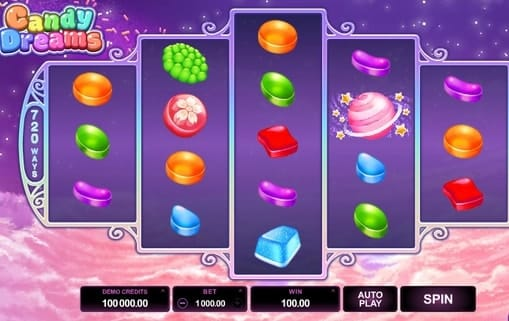 Комбинация символов в игре Candy Dreams