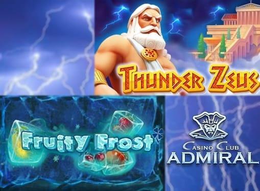Игровые автоматы Fruity Frost и Thunder Zeus