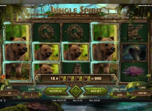 Выигрышная комбинация в Jungle Spirit Call of the Wild онлайн