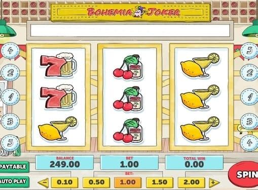 Выигрышная комбинация в онлайн автомате Bohemia Joker