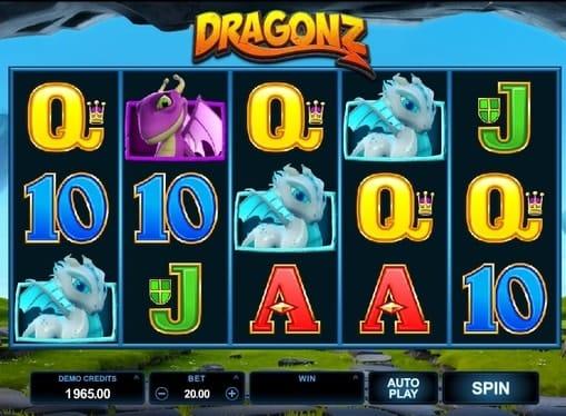Выигрышные символы в онлайн аппарате Dragonz
