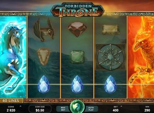 Символы игры в автомате Forbidden Throne