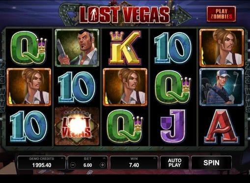 Комбинация символов в онлайн игре Lost Vegas