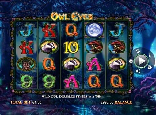 Игровые символы в слоте Owl Eyes