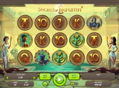 Комбинация символов в игре Secret of Nefertiti