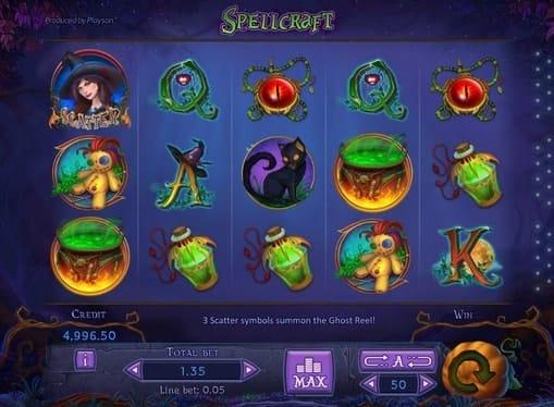 Игровые символы автомата SpellCraft