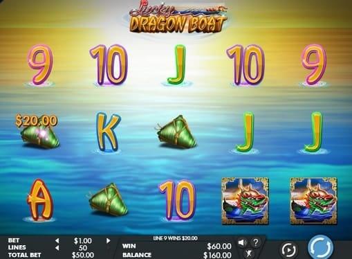 Выигрышная комбинация в онлайн аппарате Lucky Dragon Boat