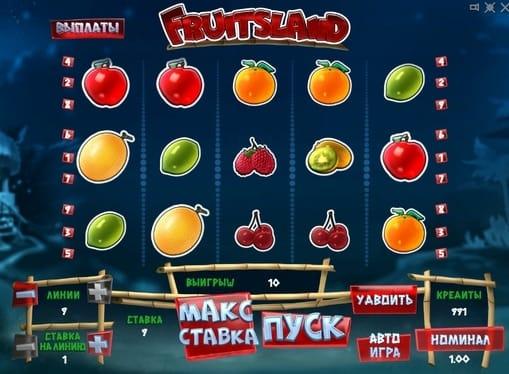 Комбинация для выигрыша в Fruits Land