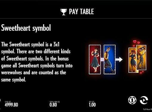 Игровой бонус в онлайн слоте Full Moon Romance
