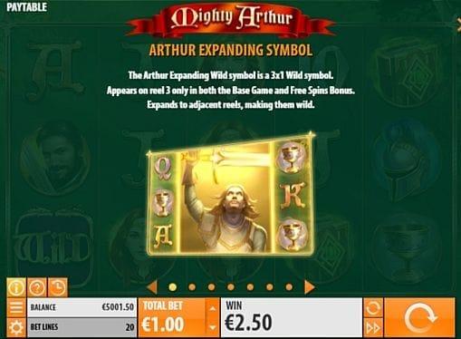 Wild в онлайн слоте Mighty Arthur