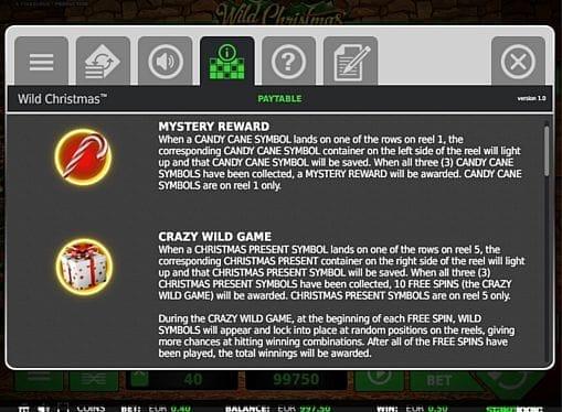 Игровой бонус в онлайн слоте Wild Christmas