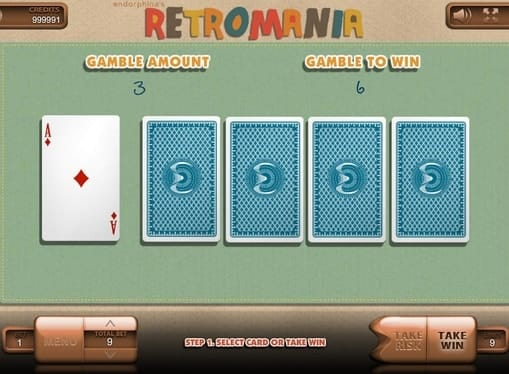 Риск игра в онлайн слоте Retromania