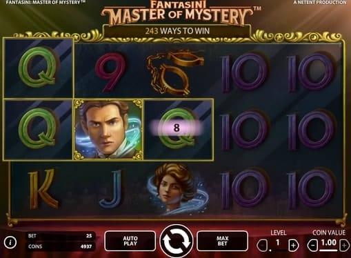 Выигрышная комбинация в онлайн аппарате Fantasini: Master of Mystery