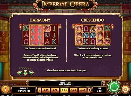Игровые бонусы в слоте Слот Imperial Opera - игровые бонусы