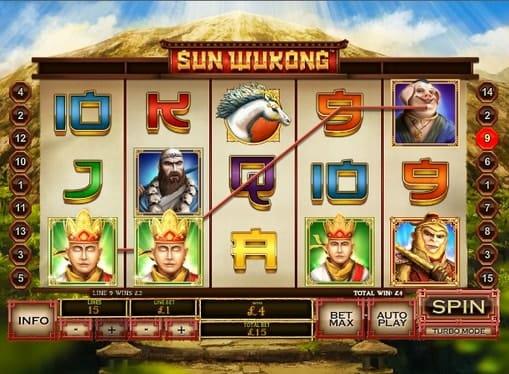 Выигрыш в онлайн слоте Sun Wukong