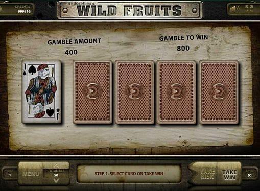 Риск-игра в Wild Fruits онлайн